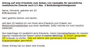 Mein Antrag auf eine Erlaubnis zum Anbau von Cannabis für persönliche medizinische Zwecke nach § 3 Abs. 2 Betäubungsmittelgesetz