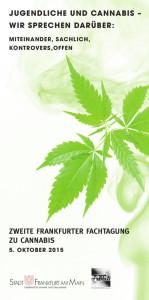 Flyer Fachtagung Cannabis