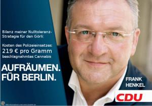 CDU Innensenator Henkel: Teures Aufräumen für Berlin