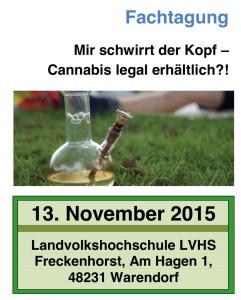 Fachtagung - Mir schwirrt der Kopf – Cannabis legal erhältlich?!