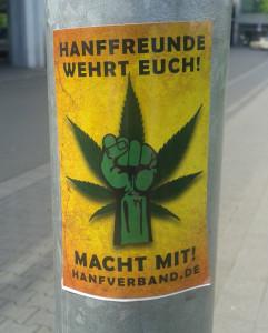 """Auch in Bayern gilt: """"Hanffreunde! Wehrt euch!"""""""